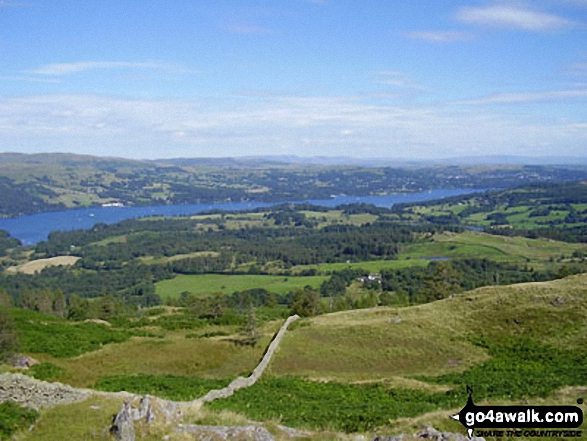 Lake Windermere from Black Fell (Black Crag). Walk route map c353 Holme Fell and Black Fell (Black Crag) from Tom Gill photo