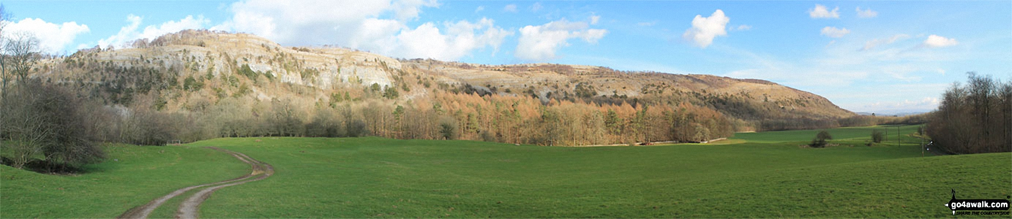 Chapel Head Scar and Whitbarrow Scar from Witherslack Hall School