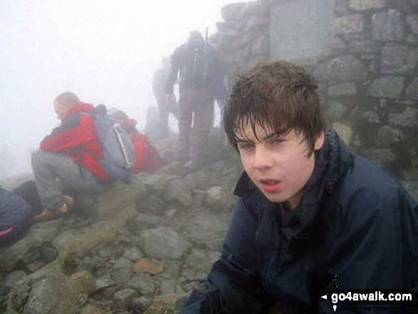 Sam at Scafell Pike summit