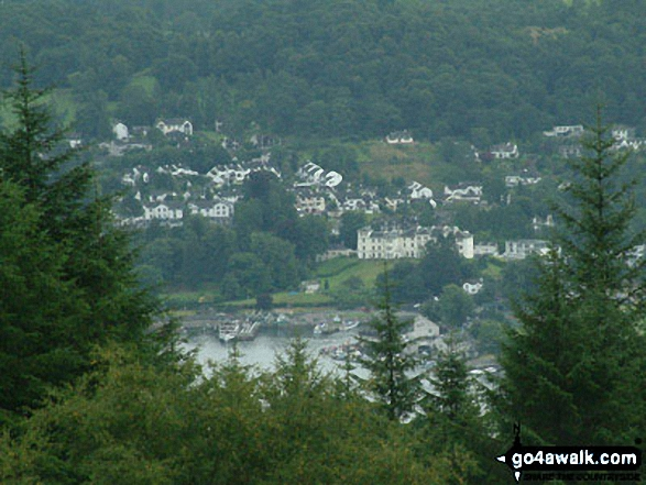 Bowness-on-Windermere from Claife Heights (High Blind How)