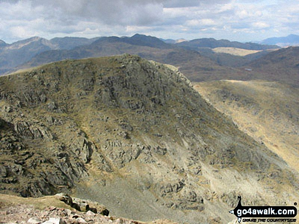 Walk c167 Wetherlam and Swirl How from Low Tilberthwaite - Great Carrs from Swirl How