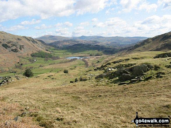 Walk c167 Wetherlam and Swirl How from Low Tilberthwaite - Little Langdale from Wet Side Edge