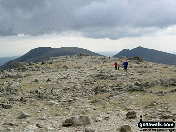 Walk c222 Swirl How and Wetherlam from Coniston - The Old Man of Coniston, Brim Fell and Dow Crag from Swirl How