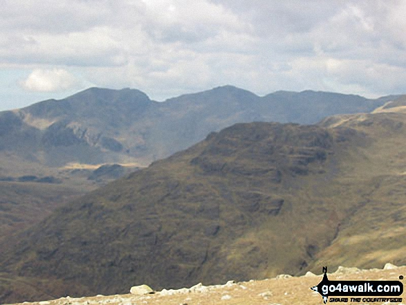 The Scafell Massif from Great Carrs