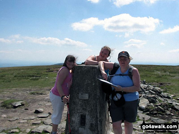 My wife Terry and two youngest daughters Emily & Elizabeth on their 1st Wainwright (High Street) taken on a Bank Holiday Sunday a couple of years ago. Walk route map c128 The Hayswater Round from Hartsop photo
