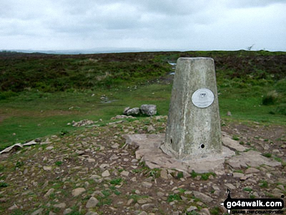 Beacon Batch summit trig point. Walk route map so110 Beacon Batch from Cheddar Gorge photo