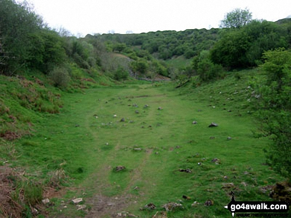 Velvet Bottom Nature Reserve. Walk route map so110 Beacon Batch from Cheddar Gorge photo