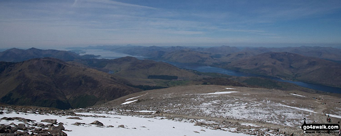 Loch Linnhe from the summit of Ben Nevis