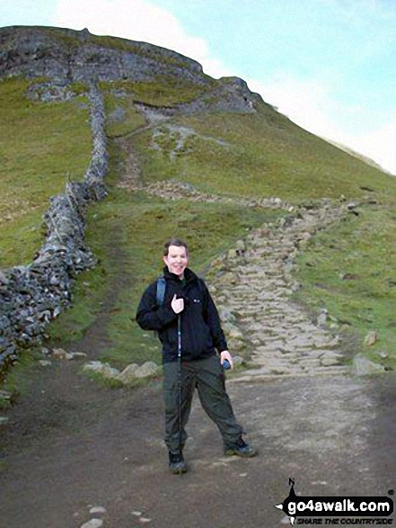 Me on Gavel Rigg just below the top of Pen-y-ghent, one of the Three Yorkshire Peaks