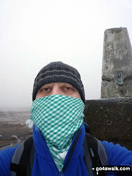 The weather was not at its best on The Cheviot