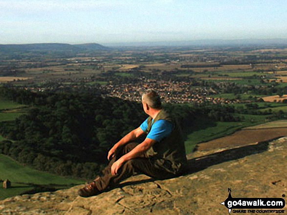 Me on top of Roseberry Topping with Great Ayton and The Cleveland Hills in the background