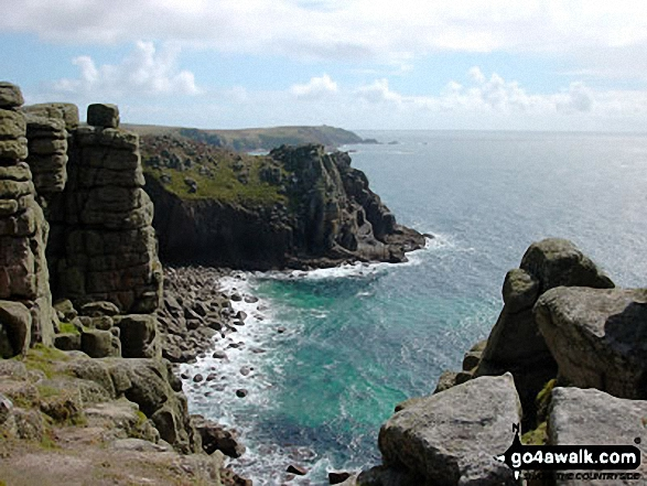 Walk co150 Trevalga Cliffs and Tintagel Castle from Tintagel - Views from The South West Coast Path, Land's End