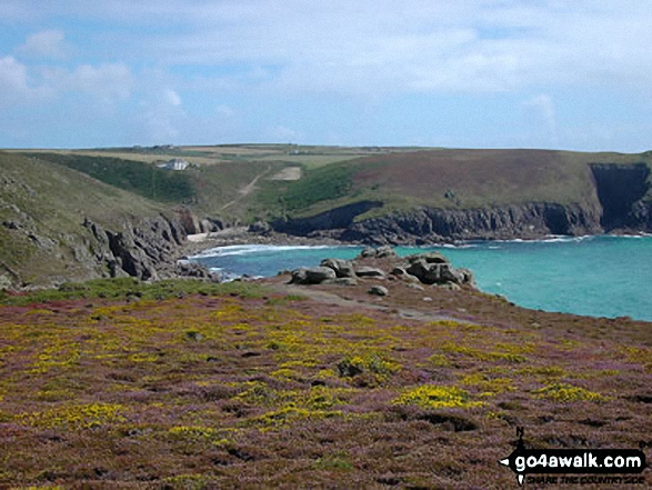 Walking The South West Coast Path near Land's End. Walk route map co157 Watergate Bay from Mawgan Porth photo