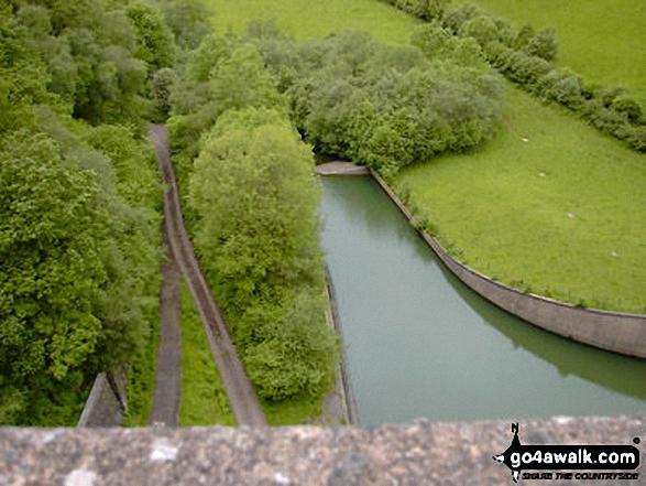 Upton Dam. Walk route map so106 Haddon Hill and Wimbleball Lake from Bury photo