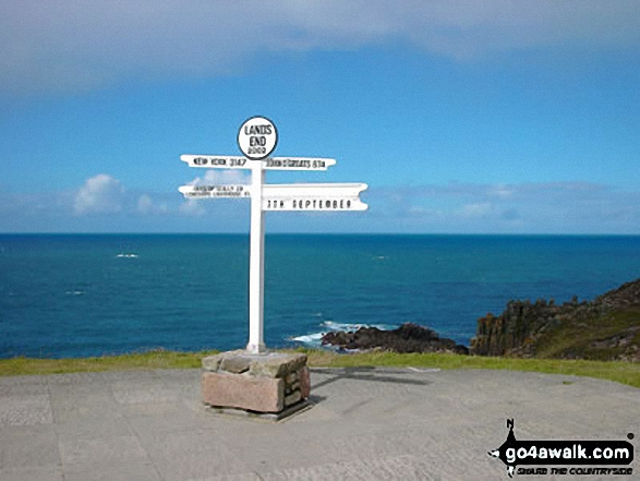 The famous sign post featuring John O'Groats at Land's End