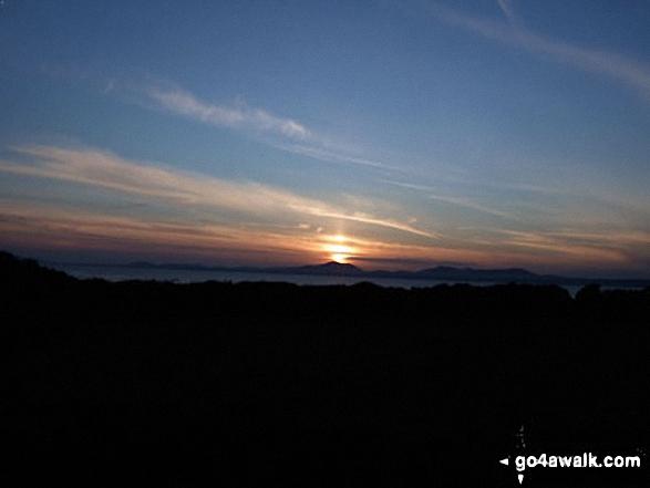 The Lleyn Peninsula at sunset from Llandanwg