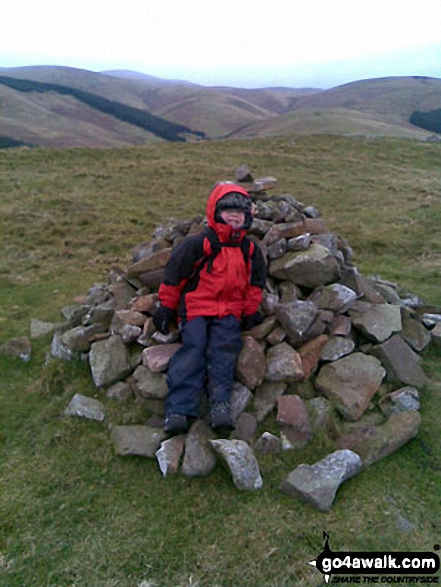 On the summit of Great Hetha in the College Valley