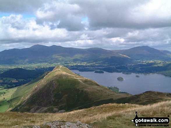 Cat Bells (Catbells) and Derwent Water from Maiden Moor