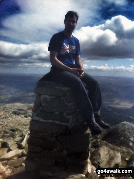 A great day on Carnedd Moel Siabod My son Tom enjoying a great view of Snowdon from the trig on [Carnedd Moel] Siabod on a beautiful clear sunny day