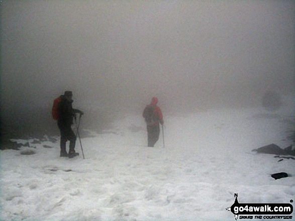 Myself and Steve Taylor on the top of Fairfield in thick mist