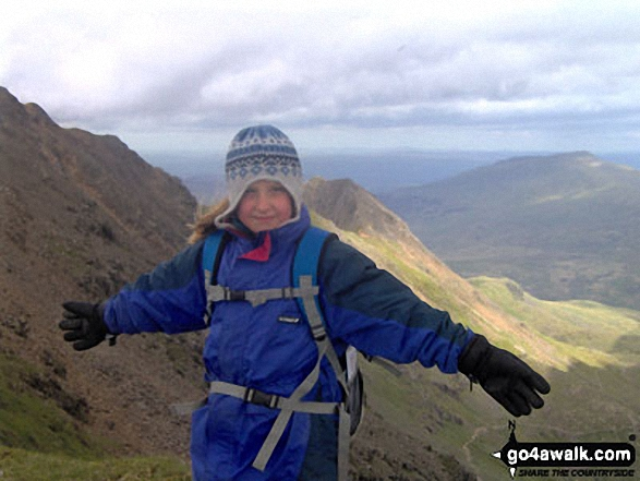 My 9 year old daughter Katie on Snowdon walk Snowdonia Gwynedd Wales walks