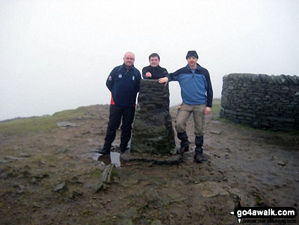 John, Steve and Paul on top of Pen-y-ghent