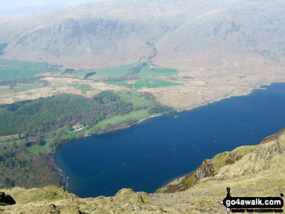 Walk c440 Whin Rigg, Illgill Head and Boat How from Miterdale Bridge - Wast Water from Whin Rigg summit