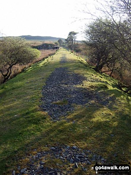 Former railway line near Dol Benlas