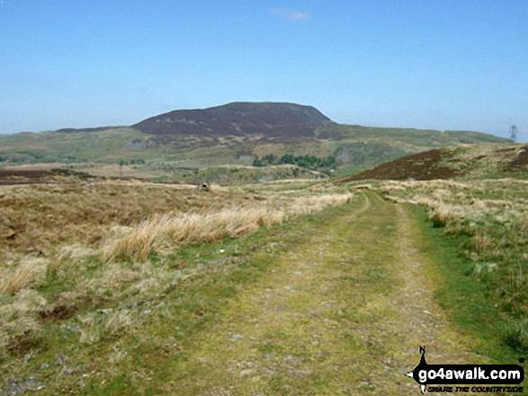 Arenig Fach from Llyn Arenig Fawr. Walk route map gw138 Arenig Fawr from Pont Rhyd-y-Fen photo