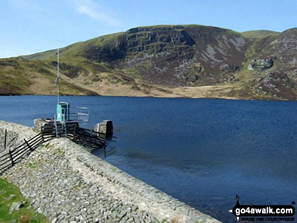 Llyn Arenig Fawr with Arenig Fawr beyond. Walk route map gw138 Arenig Fawr from Pont Rhyd-y-Fen photo