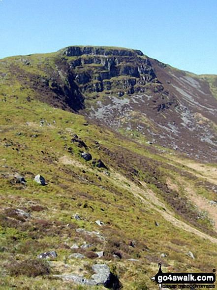 Bwlch Blaen-y-nant above Llyn Arenig Fawr. Walk route map gw138 Arenig Fawr from Pont Rhyd-y-Fen photo