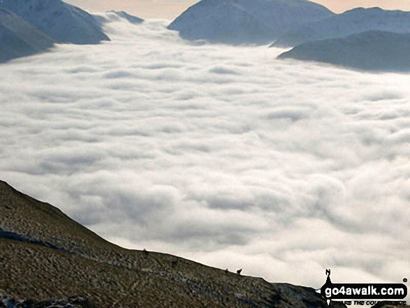 Temperature Inversion in Patterdale viewed from Place Fell. Walk route map c304 Beda Head and Place Fell from Howtown photo