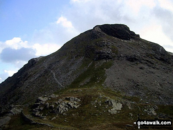 Walk Moelwyn Bach walking UK Mountains in The Molewyns Area Snowdonia National Park Gwynedd    Wales