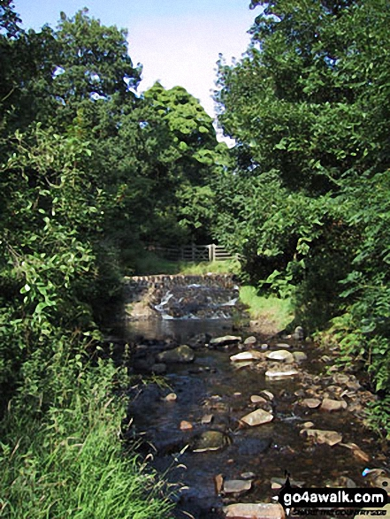 Dearden Brook. Walk route map l210 Cowpe Lowe from Edenfield photo