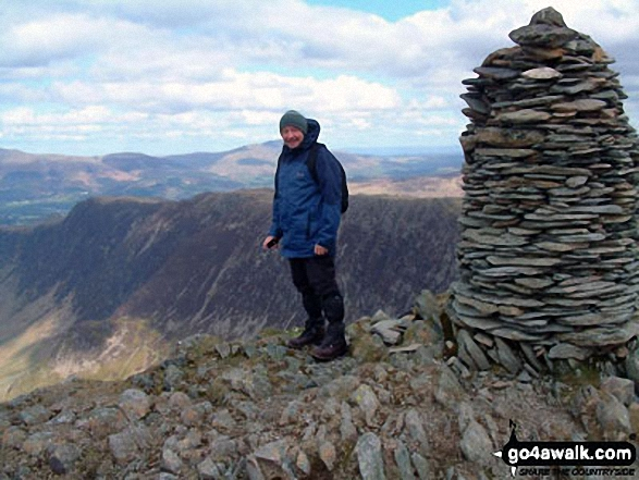 Brian on Dale Head (Newlands). Walk route map c100 The Newlands Horseshoe from Hawes End photo