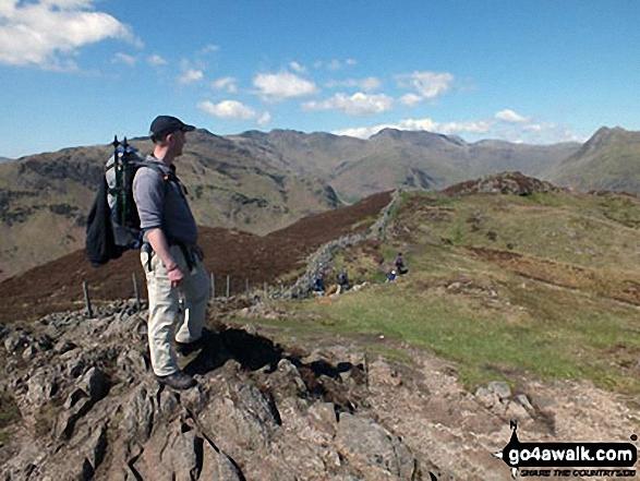 Mike on top of Lingmoor Fell