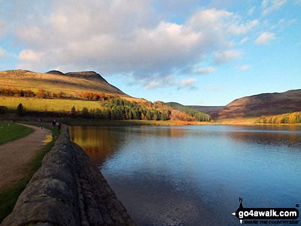 Lovely shot of summer evening light on Dove Stone Reservoir near Greenfield