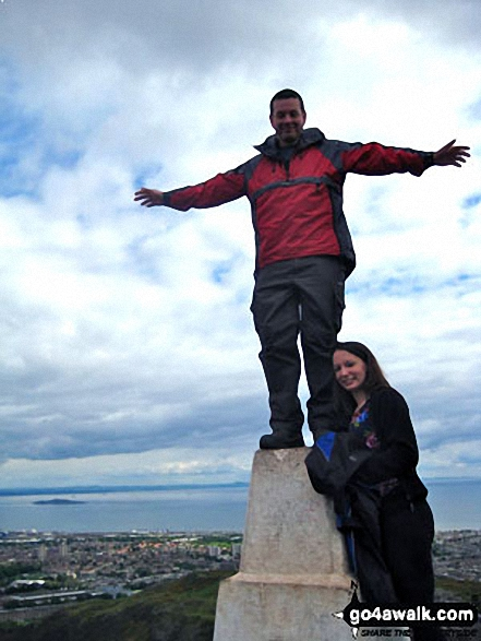 Me and my Wife Emma at the top of Arthur's Seat