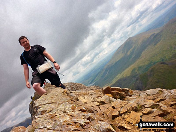 Me on top of the Crib Goch ridge