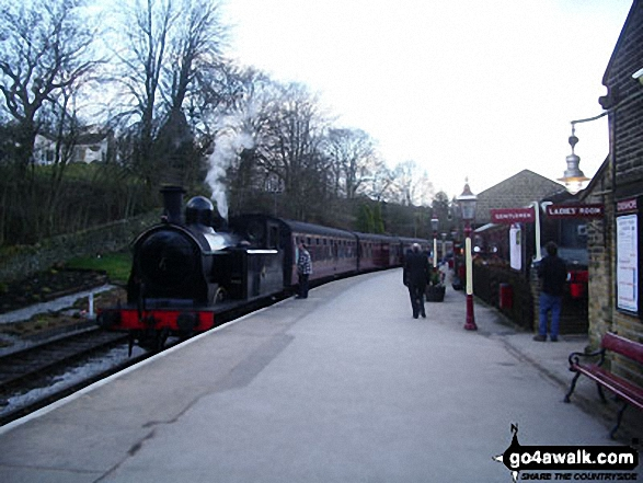 The Keighley and Worth Valley Railway at Oxenhope Station