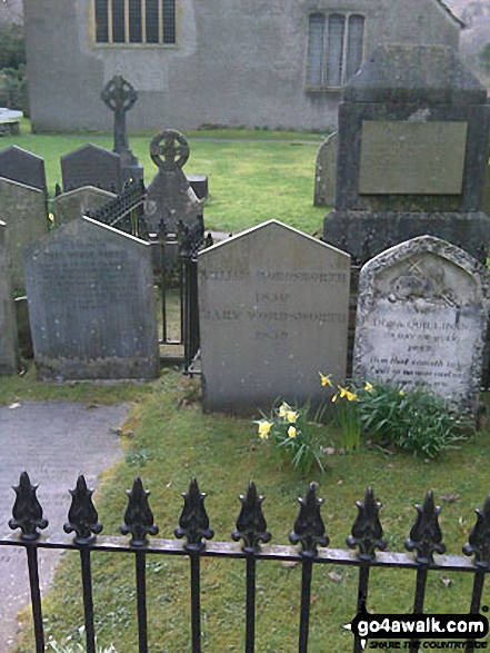 Walk Picture/View: Wordsworth's Grave in Grasmere Church Graveyard in The Lake District, Cumbria, England by Stuart Richardson (12)