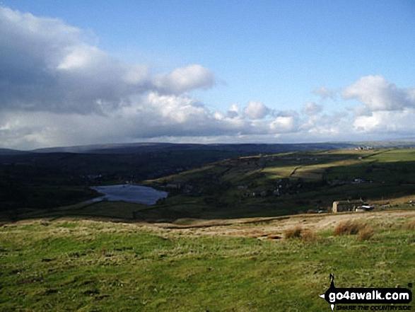 Thornton Moor Reservoir from the Bronte Way near Cobling Farm