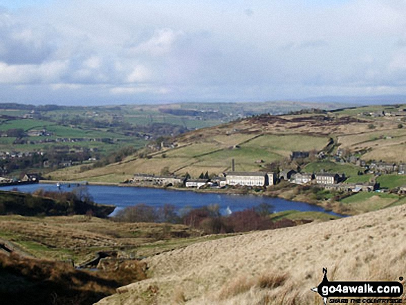 Thornton Moor Reservoir from the Bronte Way near Sunny Bank