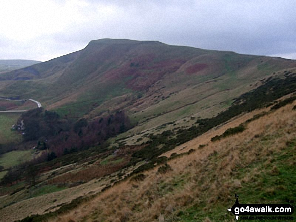 Mam Tor from Hollins Cross. Walk route map d123 Mam Tor via Cavedale from Castleton photo