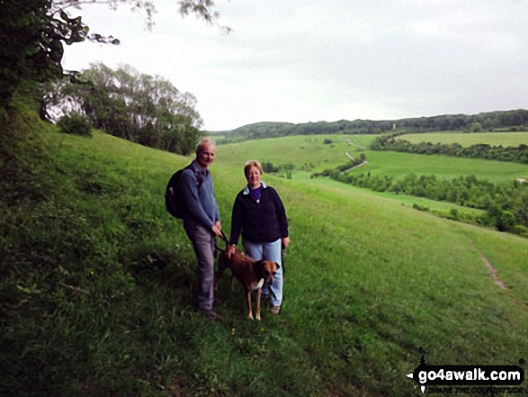 Sue & Glyn and our Rhodesian Ridgeback Scooby who always accompanies us on The Northdown Way near Otford