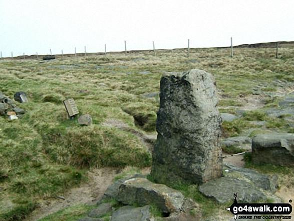 The Aiggin Stone on Blackstone Edge