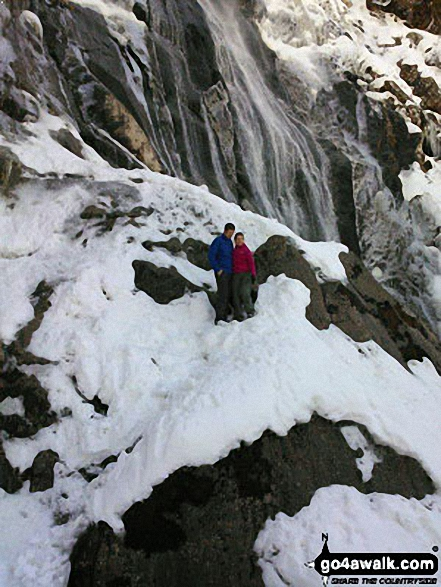 Snow and ice at Aber Falls (Rhaeadr-fawr)