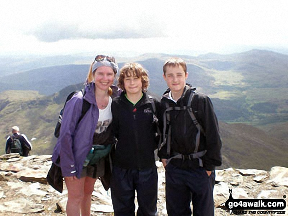 Our family walk up Snowdon!. Walk route map gw198 The Welsh 3000's (Snowdon Area) from Pen y Pass photo