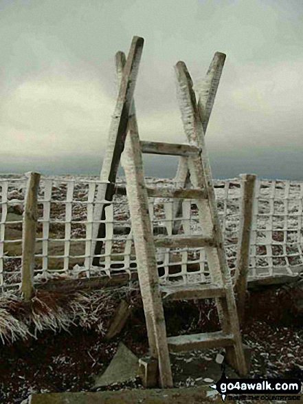 Icy stile on The Cheviot