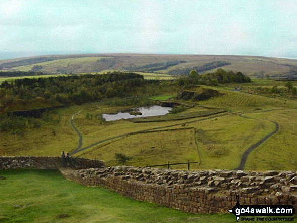 Crag Lough seen from Hadrian's Wall
